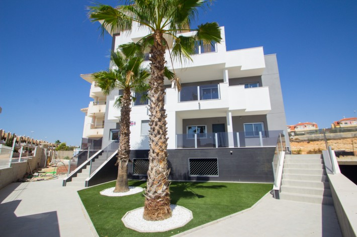 Stock Foto Apartments in Spain on the Costa Blanca