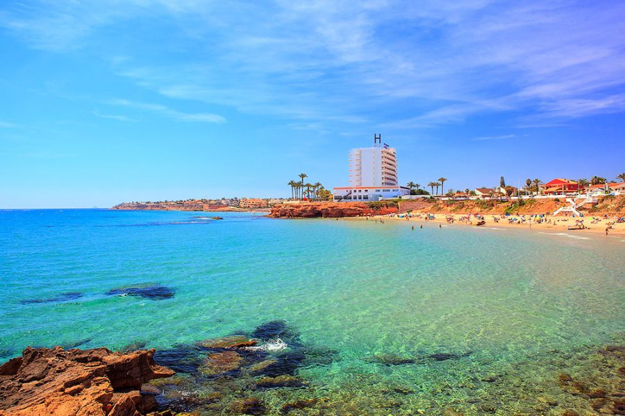 La Zenia beach and sea