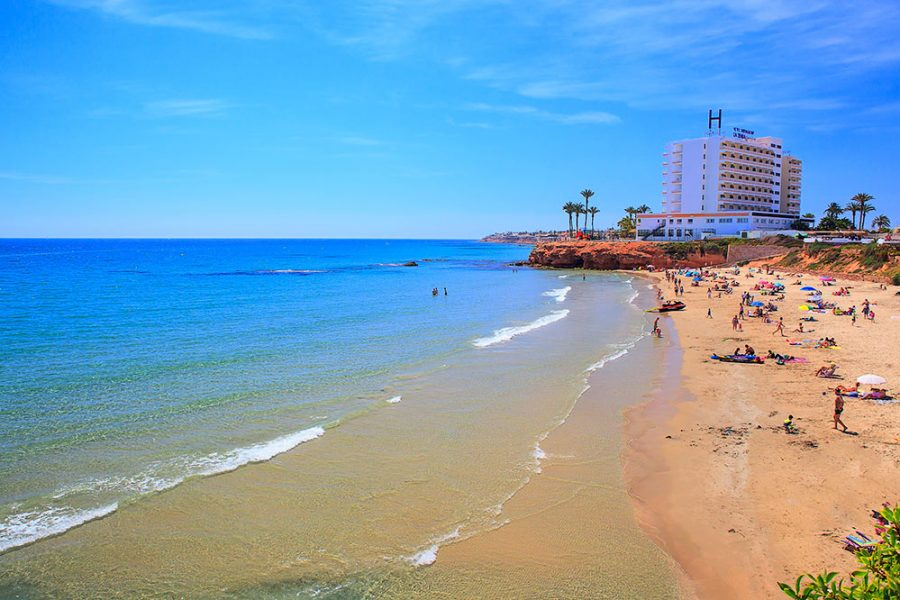 La Zenia Beach in Spain