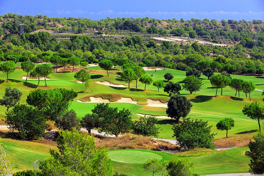 golf course in Spain on the Costa Blanca
