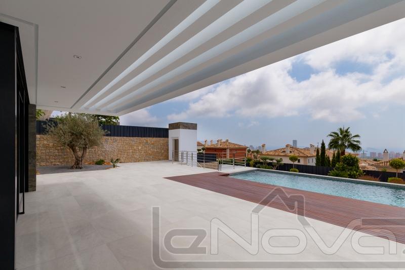 Stock Foto Luxury villa in Spain in Benidorm